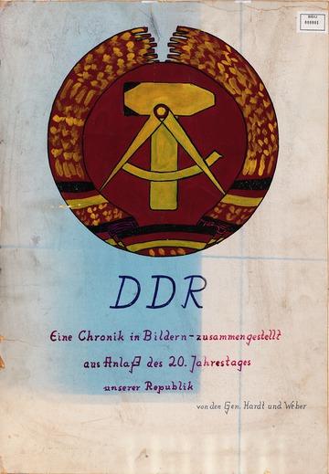 Wandzeitung anlässlich des 20. Jahrestages der DDR