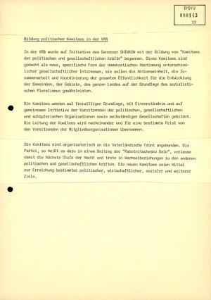 """""""Monatsübersicht Nr. 7/89 über aktuelle Probleme der Lageentwicklung in sozialistischen Staaten"""""""