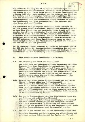 """Bericht zur Gründung der Initiative """"Demokratischer Aufbruch"""""""