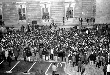 Menschenmenge in Berlin anlässlich eines Konzerts von Udo Lindenberg