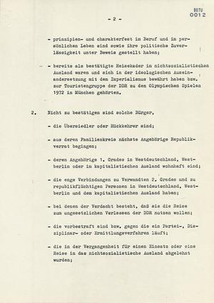 """Anlagen zum Befehl Nr. 11/74 zur """"Absicherung"""" der Fußball-Weltmeisterschaft 1974"""