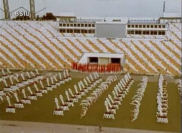 Sportschau der SV Dynamo auf dem VIII. Turn- und Sportfest in Leipzig 1987