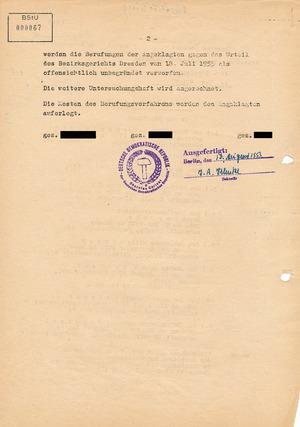 Zurückweisung der Berufungen gegen das Urteil der am Volksaufstand in Niesky beteiligten Demonstranten