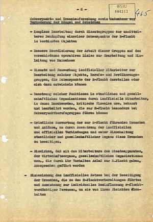 Maßnahmenvorschläge zur Bekämpfung der Republikflucht von 1961