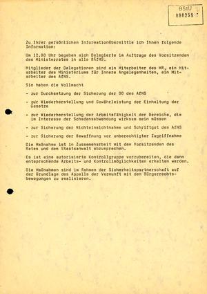 """Die Aufgaben der """"Beauftragten des Ministerrates"""""""