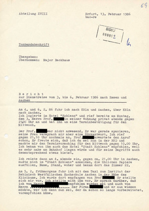 """Bericht des IMB """"Peter Lux"""" über eine Dienstreise nach Essen und Aachen"""