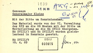 Information des KGB über Aktivitäten der Umweltbewegung in der Umgebung von Kernkraftwerken