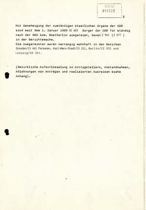Wochenübersicht Nr. 43/89 vom 23. Oktober 1989