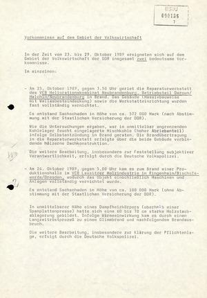 Wochenübersicht Nr. 44/89 vom 30. Oktober 1989