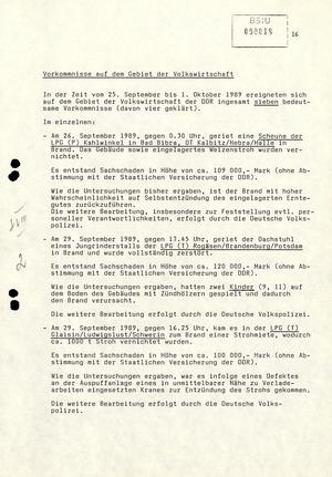 Wochenübersicht Nr. 40/89 vom 2. Oktober 1989