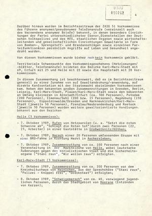 Wochenübersicht Nr. 41/89 vom 9. Oktober 1989