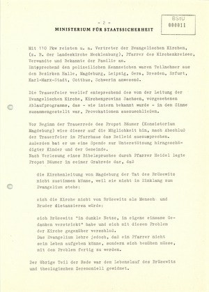 Zur Beisetzung von Pfarrer Brüsewitz am 26.8.1976 in Rippicha, Kreis Zeitz
