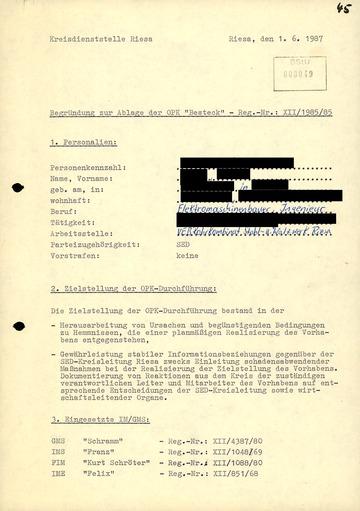 """""""Begründung zur Ablage der OPK 'Besteck'"""""""