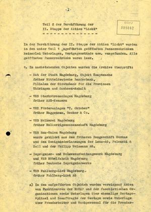Bericht der BV Magdeburg zum Auffinden von Personalakten aus der Zeit des Nationalsozialismus