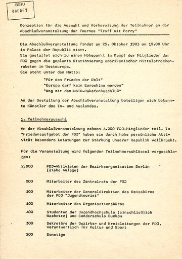 Konzeption für Auswahl und Vorbereitung der Teilnehmer am Udo-Lindenberg-Konzert