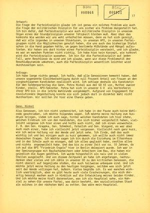 Protokoll der Delegiertenkonferenz aller Grundorganisationen der SED in der Zentrale des AfNS
