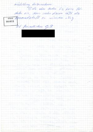 Brief eines Lindenberg-Fans aus der DDR an das Zentralkomitee der SED