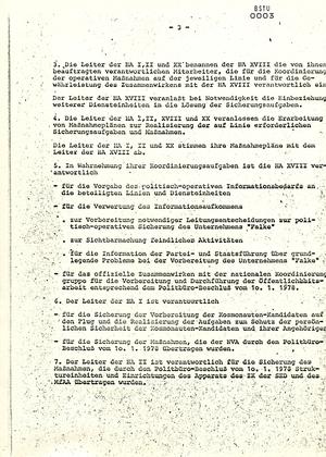 """Sicherungskonzeption zur Aktion """"Falke"""""""