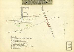 Skizze des Gebietes um die Grenzschleuse in Lübeck-Schlutup