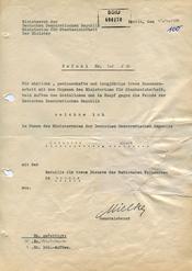 """Befehl zur Auszeichnung des GI """"Wagner"""" für """"treue Zusammenarbeit"""""""