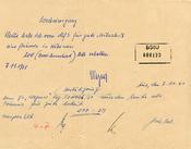 """Bescheinigung über eine Geldzuwendung an den """"Geheimen Informator"""" mit dem Decknamen """"Wagner"""""""