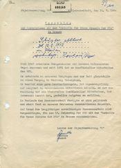 """Vorschlag für eine Auszeichnung des GI """"Wagner"""" alias Albert Schuster für """"treue Dienste"""""""