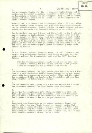 Schilderung der Ereignisse in Dresden zwischen dem 3. und 8. Oktober 1989 durch den Leiter der BVfS