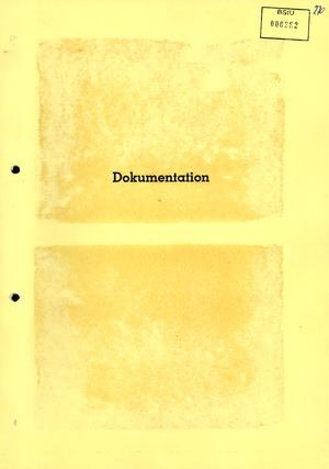 Dokumentation über Wolf Biermanns Ausreise aus der DDR am 11.11.1976