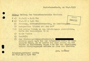"""Meldung einer """"Hetzparole"""" in Freiberg"""