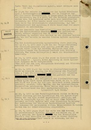 Fernschreiben zu Vorkommnissen im Bezirk Karl-Marx-Stadt während des Volksaufstands des 17. Juni 1953