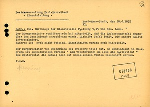 """Meldung einer """"Hetzschrift"""" am Gemeindeamt Obergrüna"""