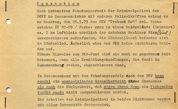 Konzeption zur Verschleierung des Todes an der Mauer von Horst Einsiedel