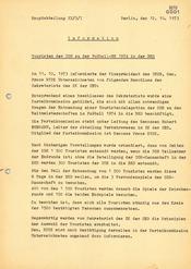 Information zur Auswahl von Touristen für Reisen zur Fußball-Weltmeisterschaft 1974
