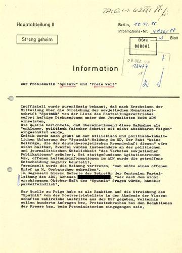 """Information zur Problematik von """"Sputnik"""" und """"Freie Welt"""""""