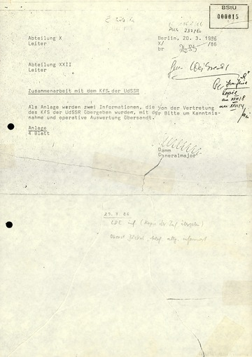 """Sowjetische Hinweise auf die Enttarnung von """"Angelika Gerlach"""" (Silke Maier-Witt)"""