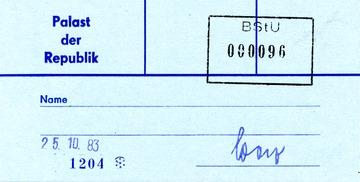 Zutrittskarte für das Udo-Lindenberg-Konzert am 25.10.1983
