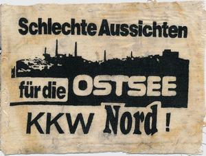 """Aufnäher """"Schlechte Aussichten für die Ostsee / KKW Nord"""""""