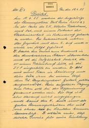 Bericht über das Auftreten von Karl-Heinz Kurras bei der Wache des Zentralkomitees der SED