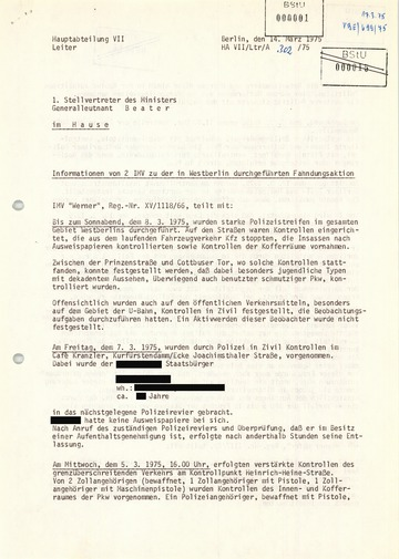 Berichte zur Entführung des Berliner CDU-Landesvorsitzenden Peter Lorenz