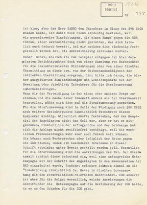 Plädoyer von Gregor Gysi im Prozess gegen Rudolf Bahro