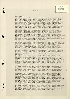 Schreiben der Organisation Gehlen zu Erfahrungen und Schlussfolgerungen aus dem Volksaufstand in der DDR