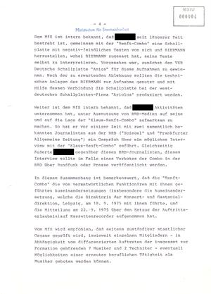 """Information über Aktivitäten der Tanzmusikformation """"Klaus-Renft-Combo"""" aus Leipzig"""