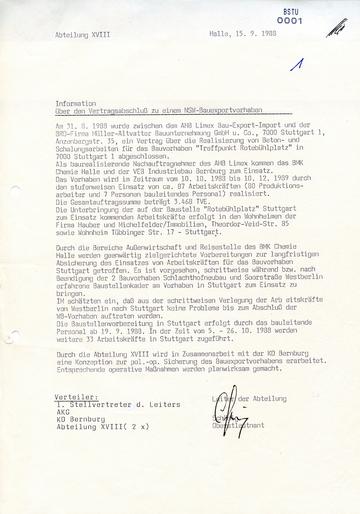 """Bericht über den Vertragsabschluss zum Bauvorhaben """"Treffpunkt Rotebühlplatz"""""""