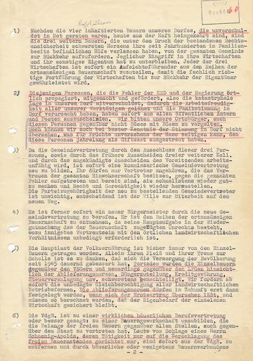 Resolution der Eckolstädter Einwohnerversammlung