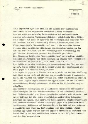 Stellungnahme der Abteilung für Staats- und Rechtsfragen zu oppositionellen Gruppierungen