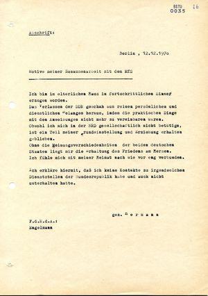 """Motive des westdeutschen IM """"Hermann"""" für die Zusammenarbeit mit der Stasi"""