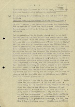 Gesamtanalyse des Aufstandes vom 17. Juni 1953 im ehemaligen Bezirk Frankfurt/Oder