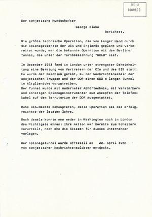 Operative Aufgabenstellung der Abteilung O nach der Entdeckung des Spionagetunnels in Altglienicke