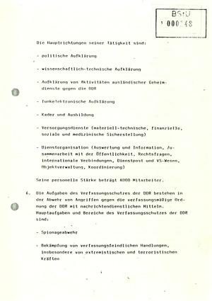 """Beschluss des Ministerrats """"über die Bildung des Nachrichtendienstes der DDR und des Verfassungsschutzes der DDR"""""""