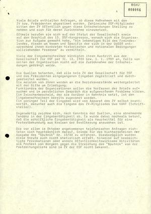 Reaktionen von Mitgliedern der Gesellschaft für Deutsch-Sowjetische Freundschaft (DSF)